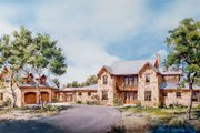 Country Style House Plan - 2 Beds 2.5 Baths 3163 Sq/Ft Plan #140-102 Exterior - Front Elevation