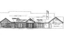 Dream House Plan - Traditional Exterior - Rear Elevation Plan #310-626
