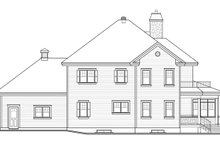 Craftsman Exterior - Rear Elevation Plan #23-2707