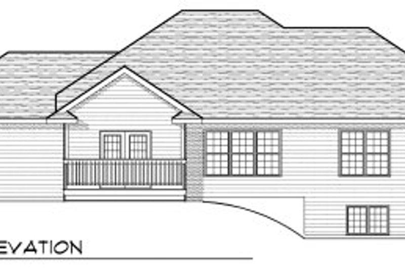 Traditional Exterior - Rear Elevation Plan #70-815 - Houseplans.com