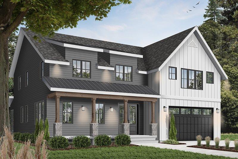 Home Plan - Farmhouse Exterior - Front Elevation Plan #23-2686