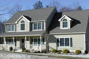 Country Style House Plan - 3 Beds 2.5 Baths 2044 Sq/Ft Plan #75-155 Exterior - Front Elevation