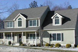 Country Exterior - Front Elevation Plan #75-155