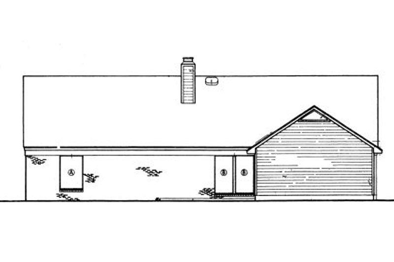 Country Exterior - Rear Elevation Plan #45-327 - Houseplans.com