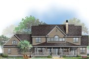 Country Style House Plan - 4 Beds 3.5 Baths 3419 Sq/Ft Plan #929-44 Exterior - Rear Elevation