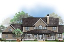 Country Exterior - Rear Elevation Plan #929-44