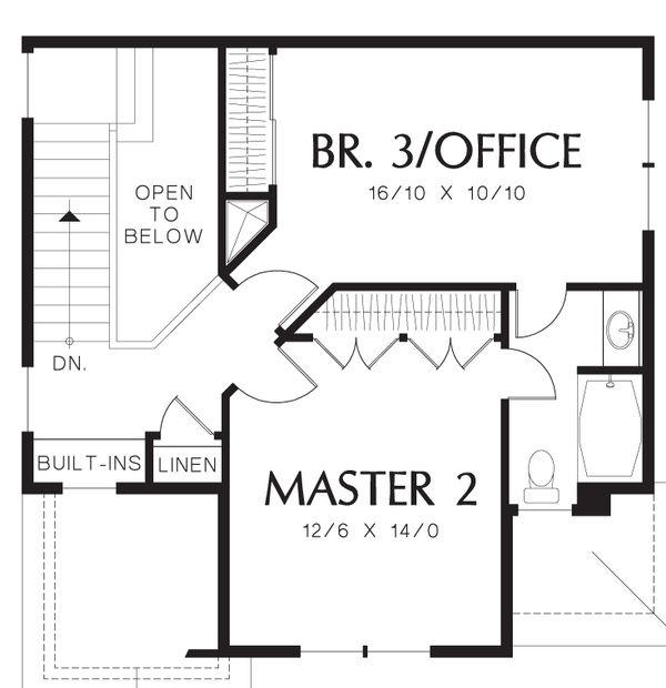 Craftsman Floor Plan - Upper Floor Plan Plan #48-552