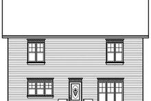 Colonial Exterior - Rear Elevation Plan #23-730