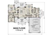 Farmhouse Style House Plan - 4 Beds 3.5 Baths 2528 Sq/Ft Plan #51-1130 Floor Plan - Main Floor Plan