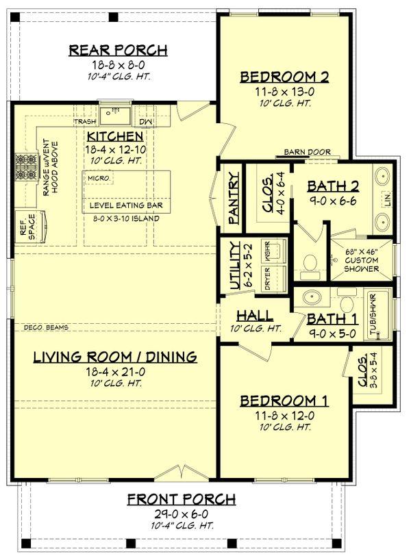 Dream House Plan - Farmhouse Floor Plan - Main Floor Plan #430-227