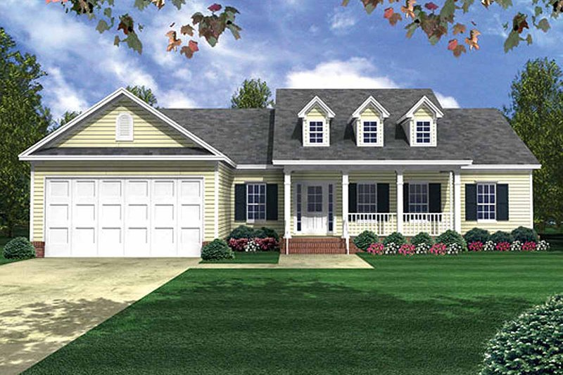 Country Exterior - Front Elevation Plan #21-149 - Houseplans.com