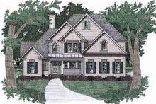Architectural House Design - Traditional Exterior - Front Elevation Plan #129-127