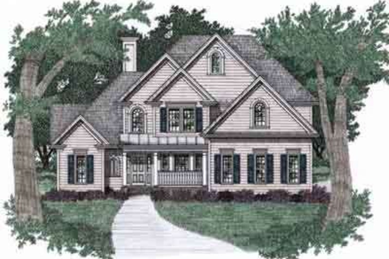 Traditional Exterior - Front Elevation Plan #129-127 - Houseplans.com