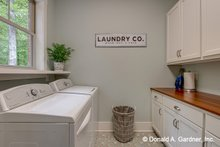 House Plan Design - European Interior - Laundry Plan #929-1056