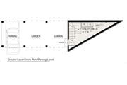 Modern Style House Plan - 1 Beds 1 Baths 705 Sq/Ft Plan #905-1 Floor Plan - Main Floor Plan