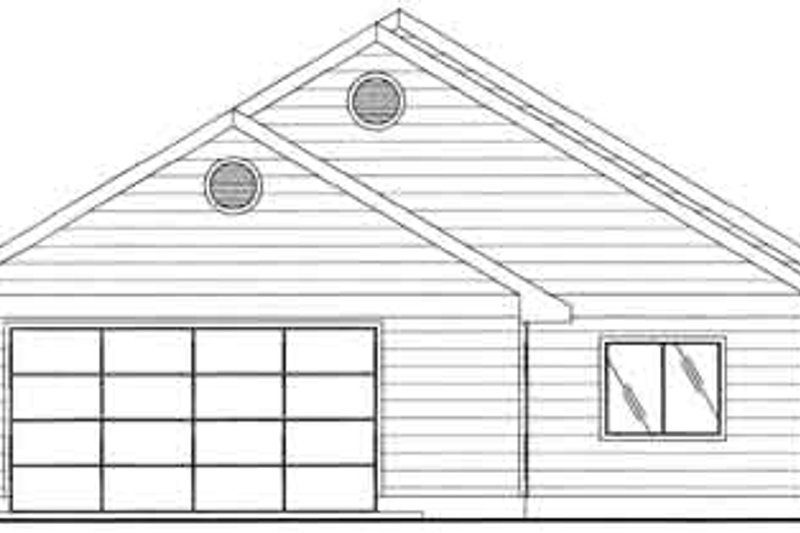 Traditional Exterior - Rear Elevation Plan #117-456 - Houseplans.com