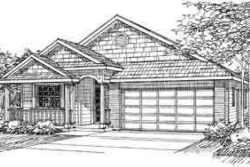 Traditional Exterior - Front Elevation Plan #124-375 - Houseplans.com