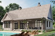 Farmhouse Style House Plan - 3 Beds 2.5 Baths 2136 Sq/Ft Plan #51-1164 Exterior - Rear Elevation