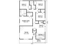 Cottage Floor Plan - Main Floor Plan Plan #84-543