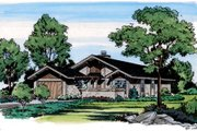 Prairie Style House Plan - 2 Beds 2 Baths 1280 Sq/Ft Plan #312-784 Exterior - Front Elevation