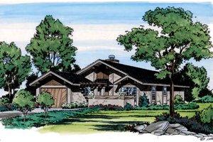 Prairie Exterior - Front Elevation Plan #312-784