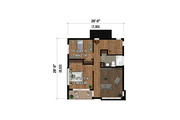 Cottage Style House Plan - 2 Beds 1.5 Baths 1219 Sq/Ft Plan #25-4924
