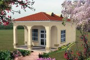 Adobe / Southwestern Style House Plan - 0 Beds 1 Baths 346 Sq/Ft Plan #1-103 Exterior - Front Elevation