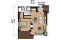 Contemporary Style House Plan - 1 Beds 1 Baths 815 Sq/Ft Plan #25-4578 Floor Plan - Main Floor Plan