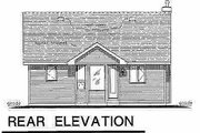 Cottage Style House Plan - 1 Beds 1 Baths 614 Sq/Ft Plan #18-1048 Exterior - Rear Elevation
