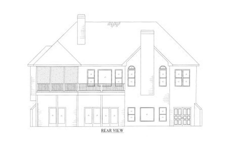 Country Exterior - Rear Elevation Plan #437-39 - Houseplans.com