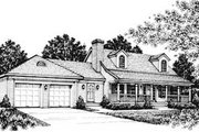 Country Style House Plan - 3 Beds 2.5 Baths 1767 Sq/Ft Plan #12-109 Exterior - Front Elevation