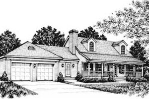 Country Exterior - Front Elevation Plan #12-109