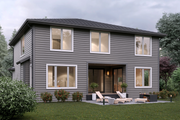 Contemporary Style House Plan - 4 Beds 3 Baths 2899 Sq/Ft Plan #1066-6 Exterior - Rear Elevation