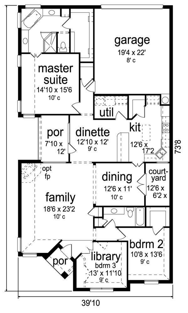 Home Plan - Traditional Floor Plan - Main Floor Plan #84-580