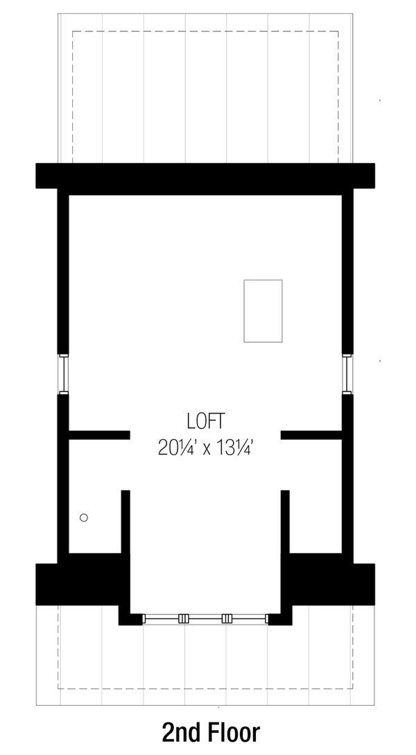 Bungalow Floor Plan - Upper Floor Plan Plan #915-10