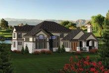 Dream House Plan - European Exterior - Rear Elevation Plan #70-1092