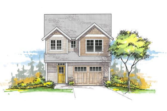Country Exterior - Front Elevation Plan #53-621