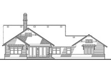 Craftsman Exterior - Rear Elevation Plan #120-187