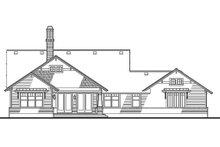 House Design - Craftsman Exterior - Rear Elevation Plan #120-187