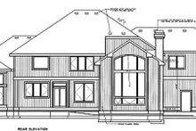 Home Plan Design - European Exterior - Rear Elevation Plan #94-209