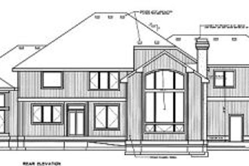 European Exterior - Rear Elevation Plan #94-209 - Houseplans.com
