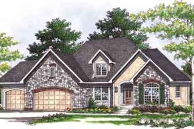 Dream House Plan - Traditional Exterior - Front Elevation Plan #70-646