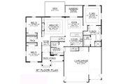 Craftsman Style House Plan - 3 Beds 2 Baths 1836 Sq/Ft Plan #1064-62 Floor Plan - Main Floor