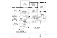 Craftsman Floor Plan - Main Floor Plan Plan #1064-62
