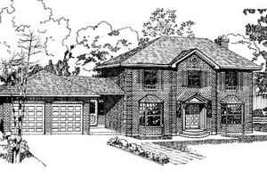 Colonial Exterior - Front Elevation Plan #47-131