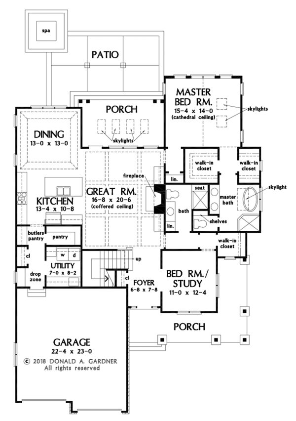 Cottage Floor Plan - Main Floor Plan Plan #929-1108