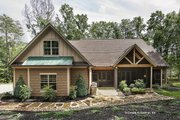 Craftsman Style House Plan - 3 Beds 2 Baths 2004 Sq/Ft Plan #929-14 Exterior - Rear Elevation