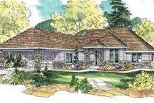 Dream House Plan - Mediterranean Exterior - Front Elevation Plan #124-649