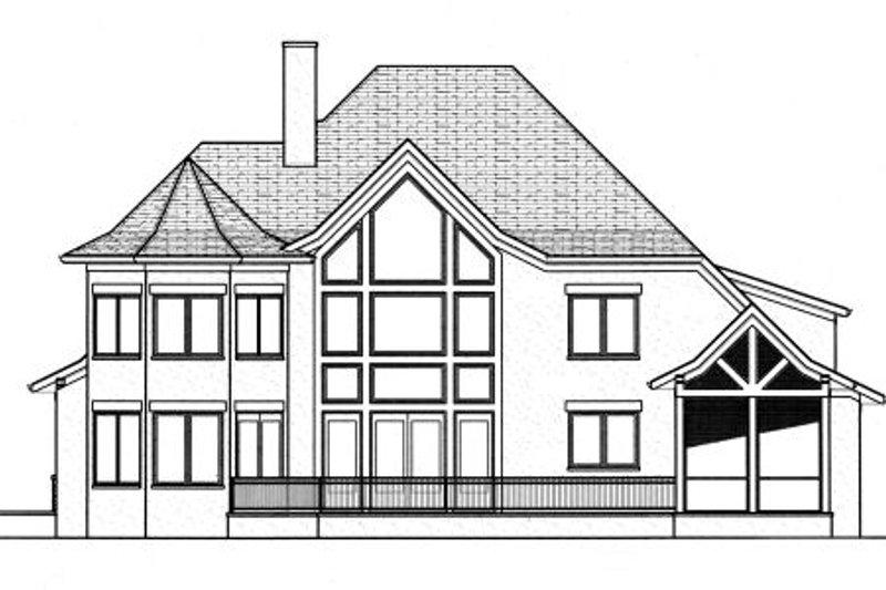 European Exterior - Rear Elevation Plan #413-812 - Houseplans.com