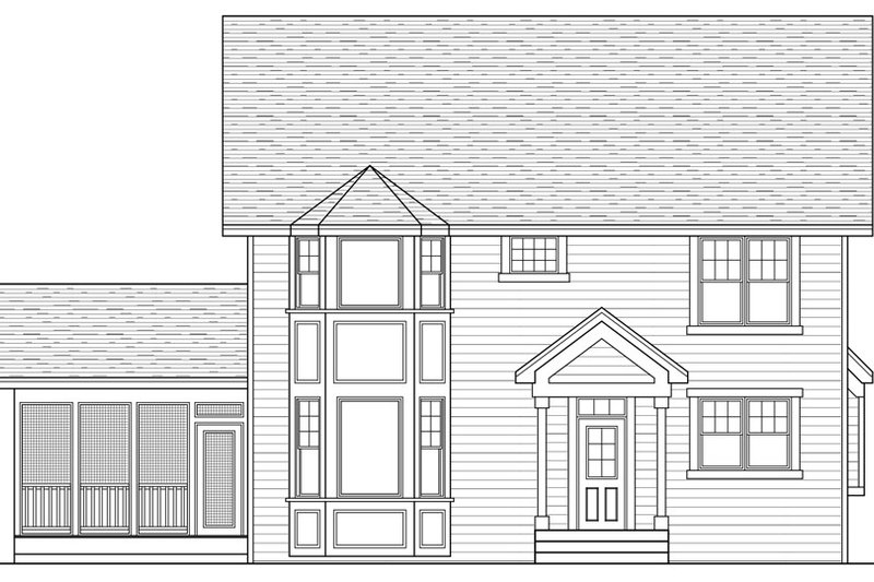 Farmhouse Exterior - Rear Elevation Plan #51-306 - Houseplans.com